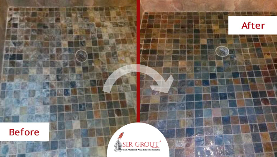This baltimore homeowners shower went from scum filled mess to a this baltimore homeowners shower went from scum filled mess to a beautiful work of art with a stone sealing tyukafo